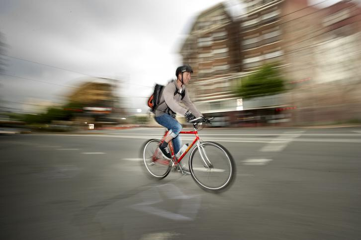 Participant in 2013 Bike to Work Day, San Francisco