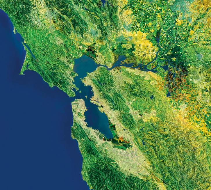 Satellite image of SF Bay Area