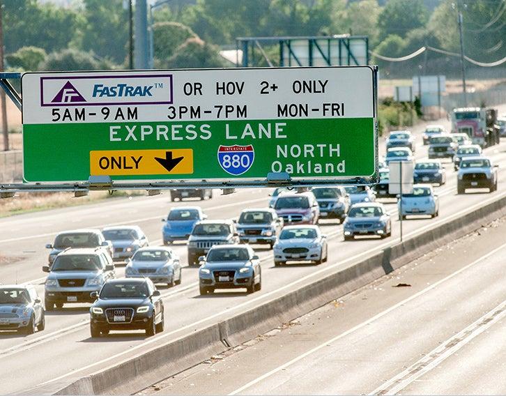 Express lane signage