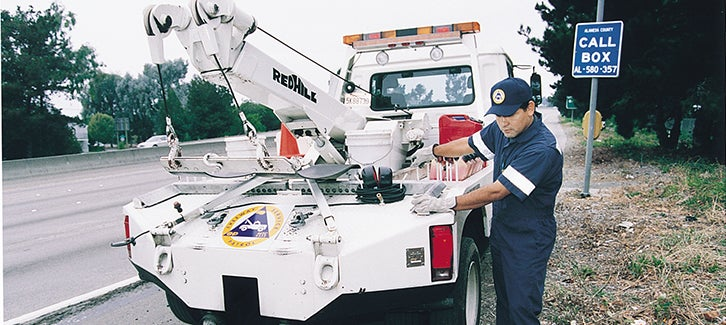 Freeway Service Patrol, FSP, Tow Truck, call box