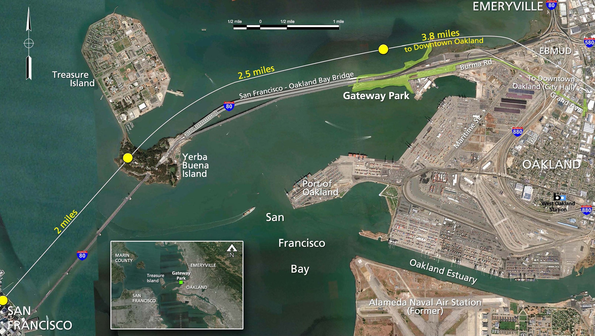 Gateway Park location map