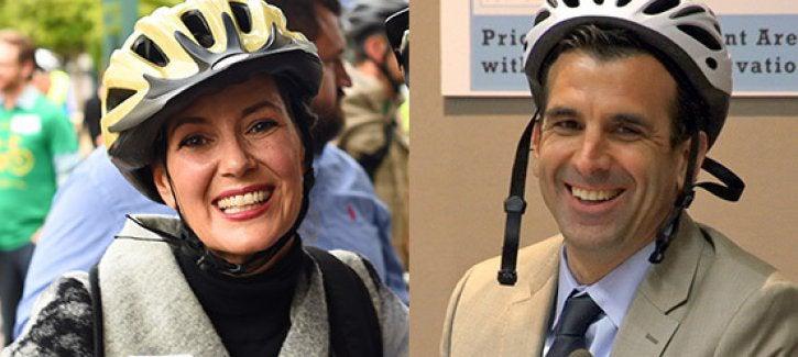 (L-R) Oakland Mayor Libby Schaaf, San Jose Mayor Sam Liccardo