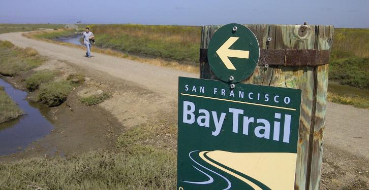 Bay Trail segment at Hayward shoreline