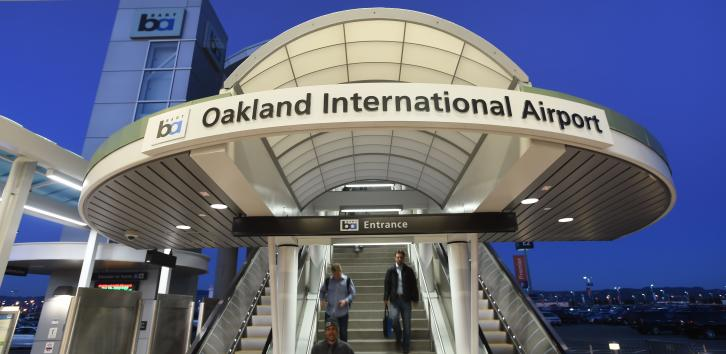 Oakland International Airport-entrance to Oakland Airport Connector station