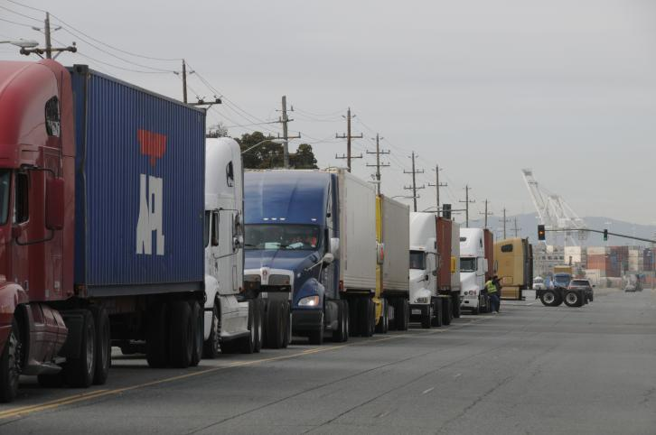 Trucks at the Port of Oakland