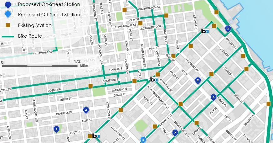 Proposed Bikeshare Locations