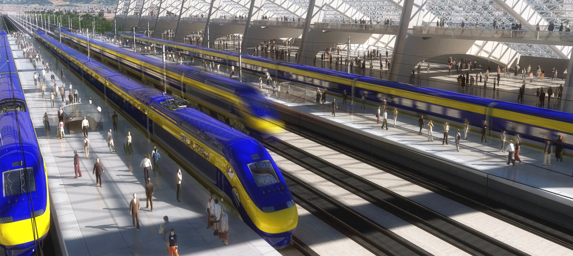 High Speed Rail Rendering
