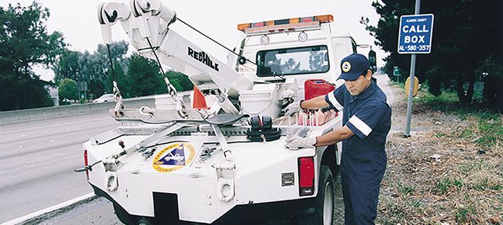 Freeway Service Patrol truck