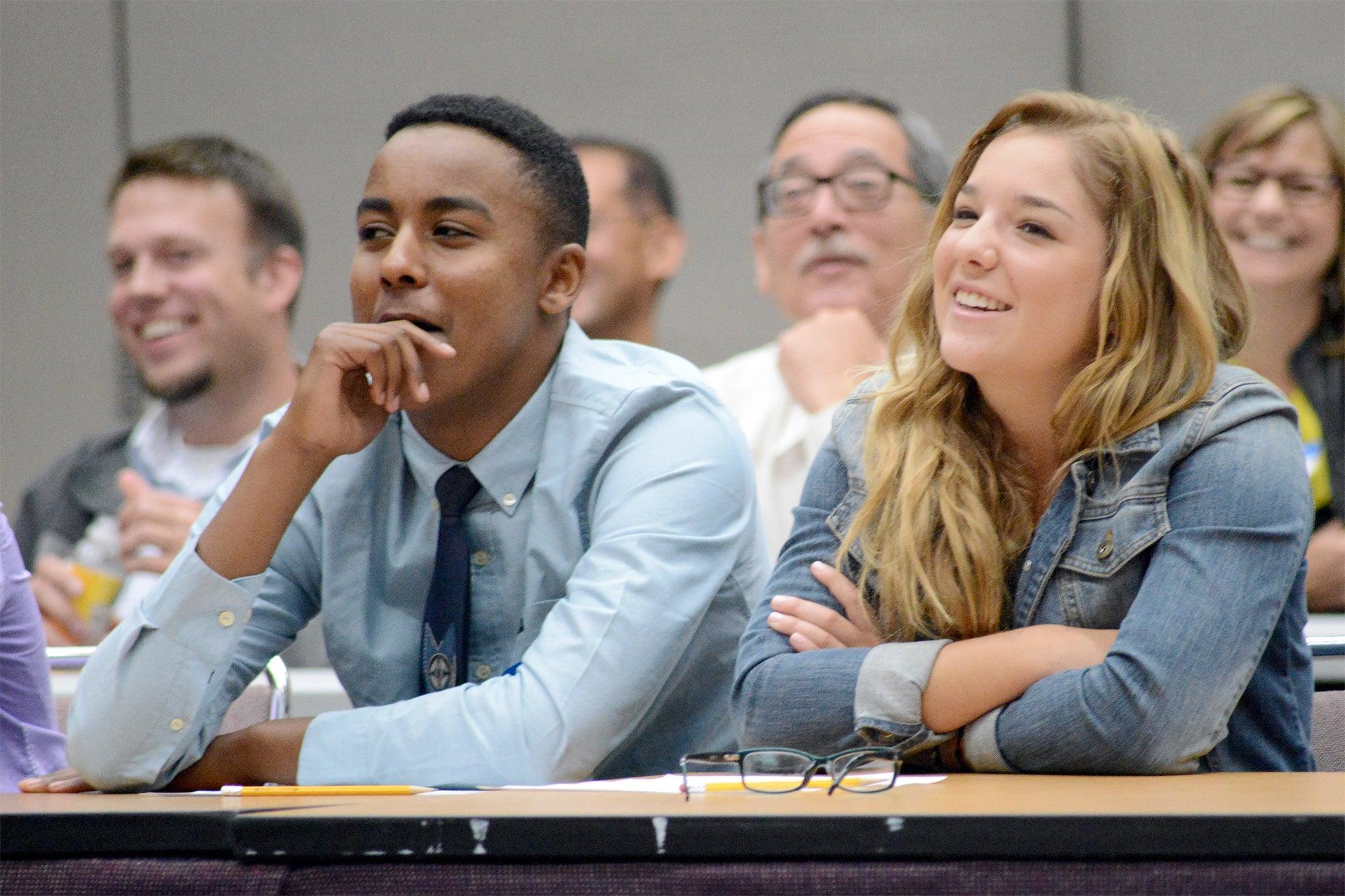 interns listen to presentation