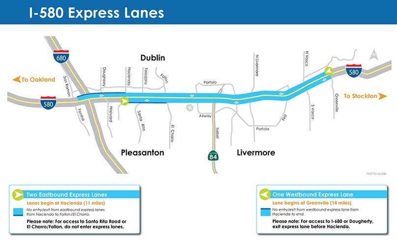 Map of I-580 Express Lanes