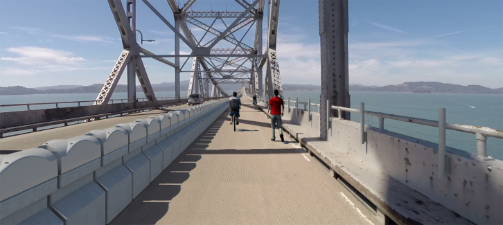 Rendering of planned Richmond-San Rafael Bridge bicycle-pedestrian pat