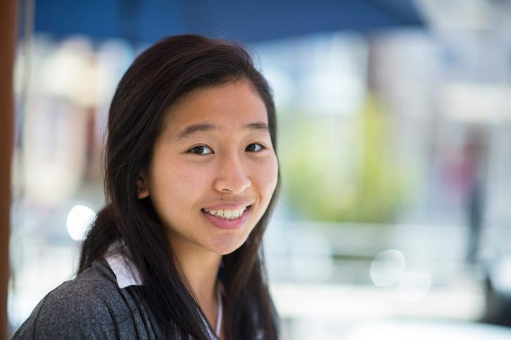 Recent graduate Karen Chow interns for the City of Burlingame.