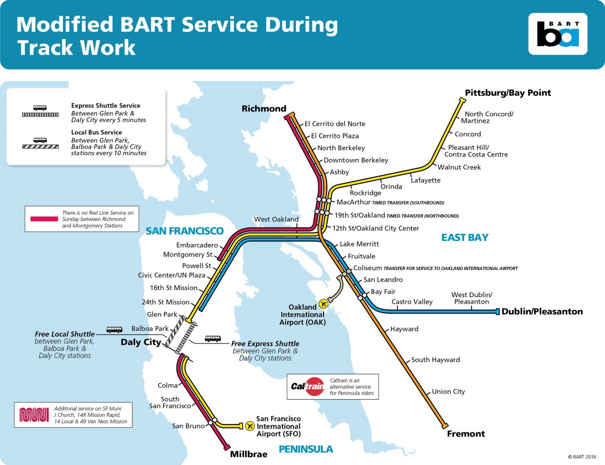 BART Modifies Weekend Service to Perform Needed Track Work Through