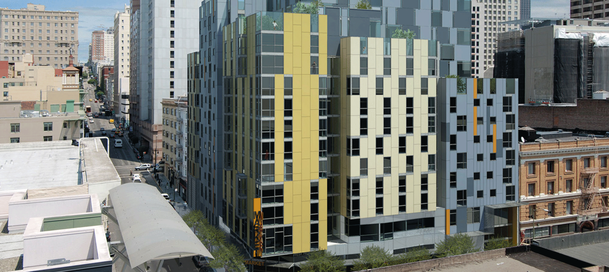Eddy and Taylor family housing in San Francisco (rendering)