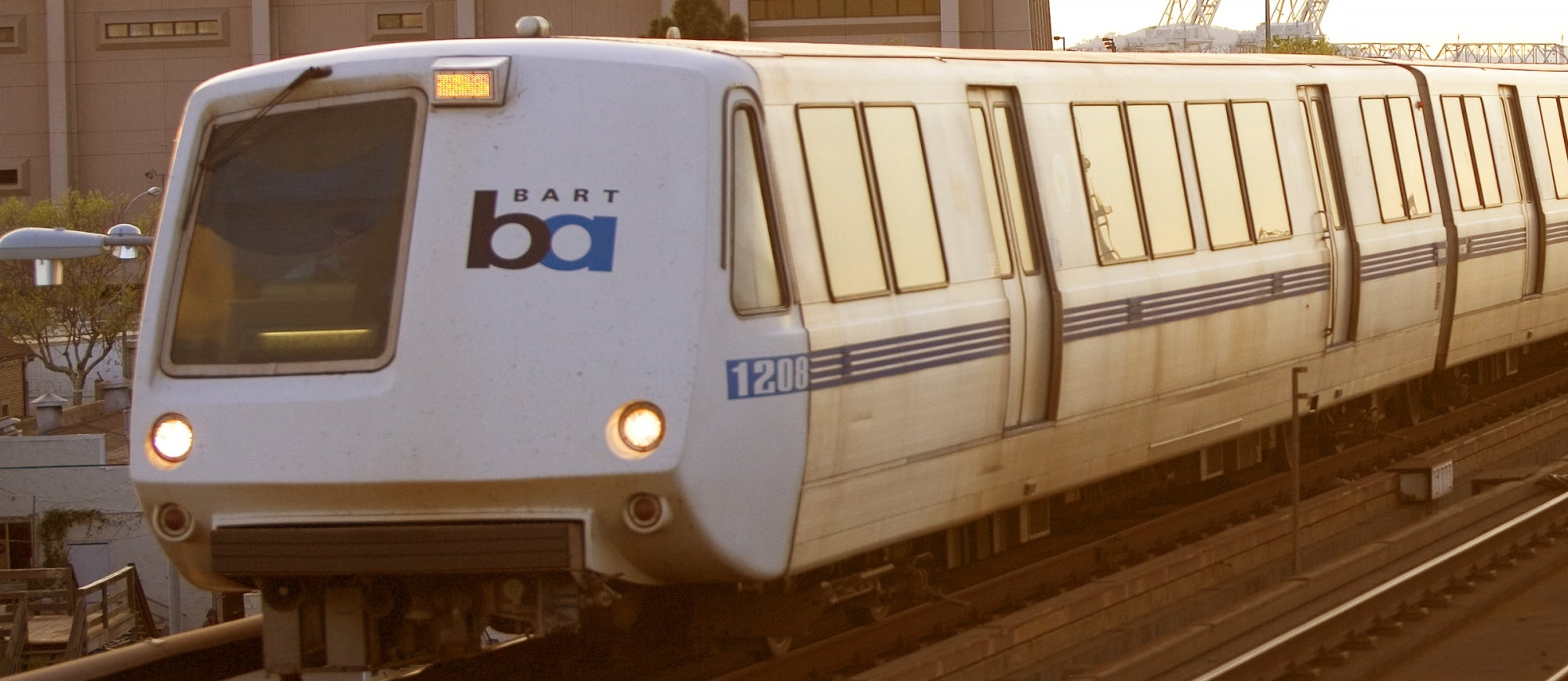 BART train near West Oakland station