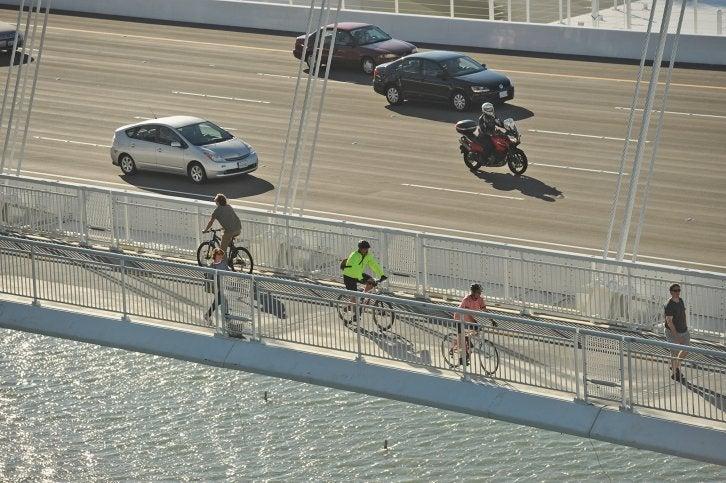 San Francisco-Oakland Bay Bridge bicycle/pedestrian path