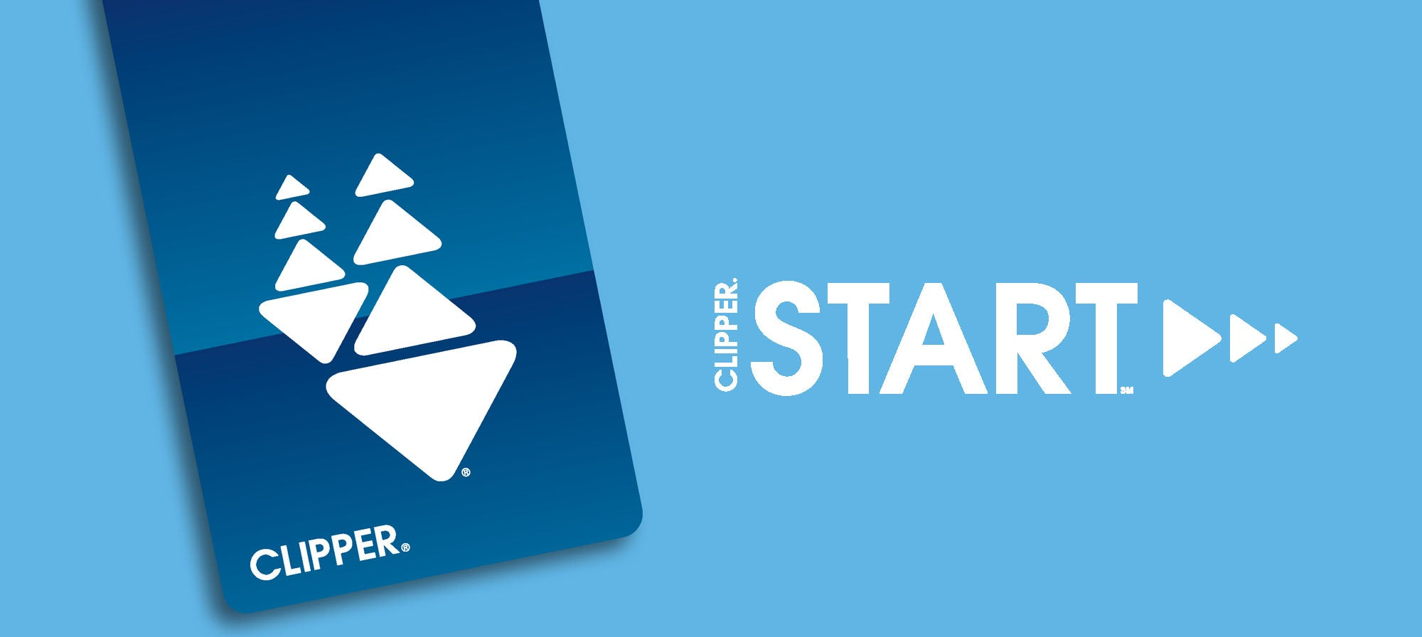 Clipper START program logo and Clipper card image