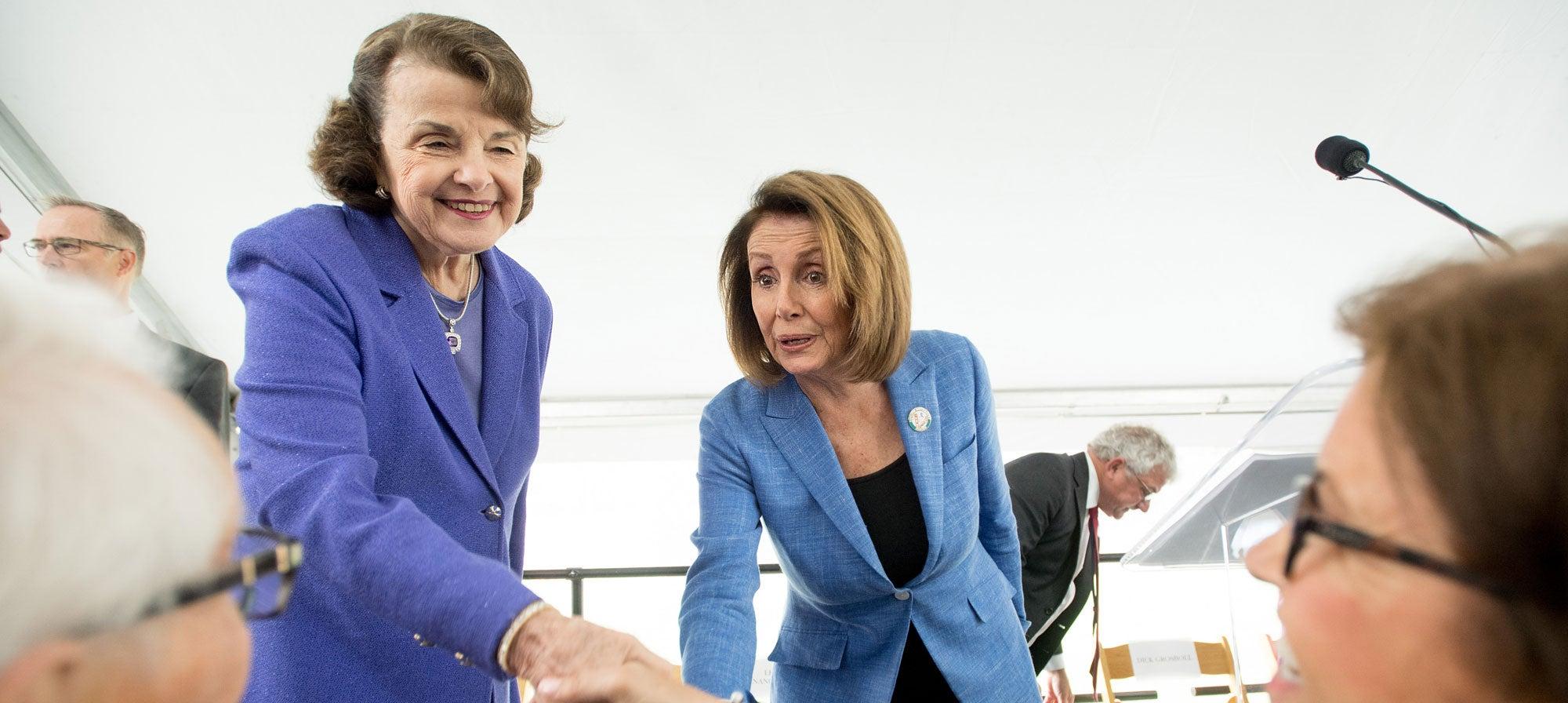 Senator Dianne Feinstein and House Democratic Leader Nancy Pelosi