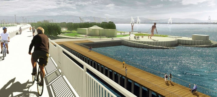 Rendering of proposed pier at Gateway Park