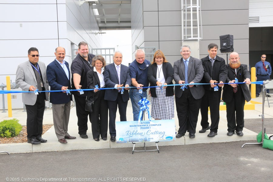 """Official ribbon-cutting for the new """"green"""" Bay Bridge maintenance complex"""