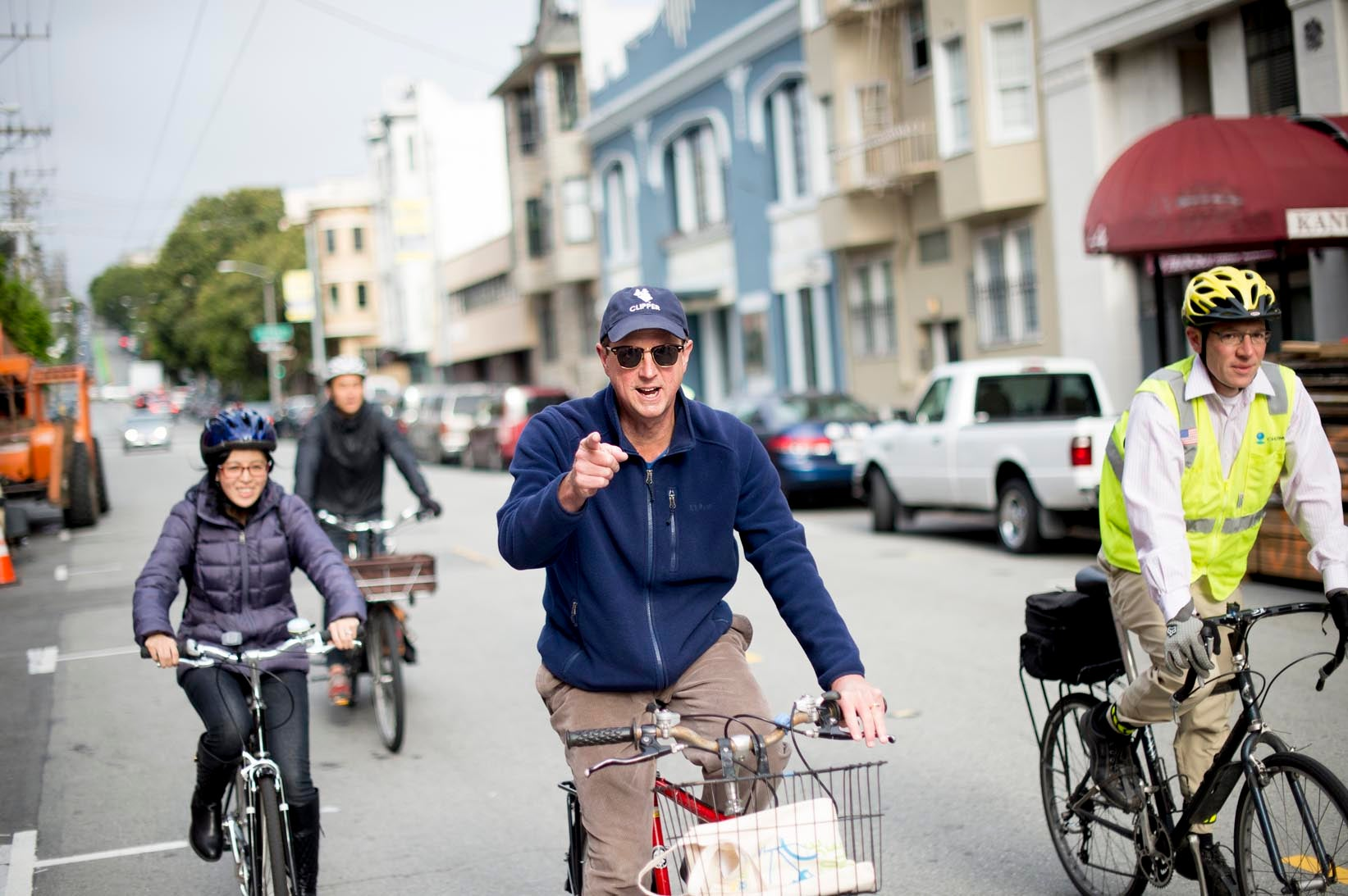 MTC Executive Director Steve Heminger biking to work