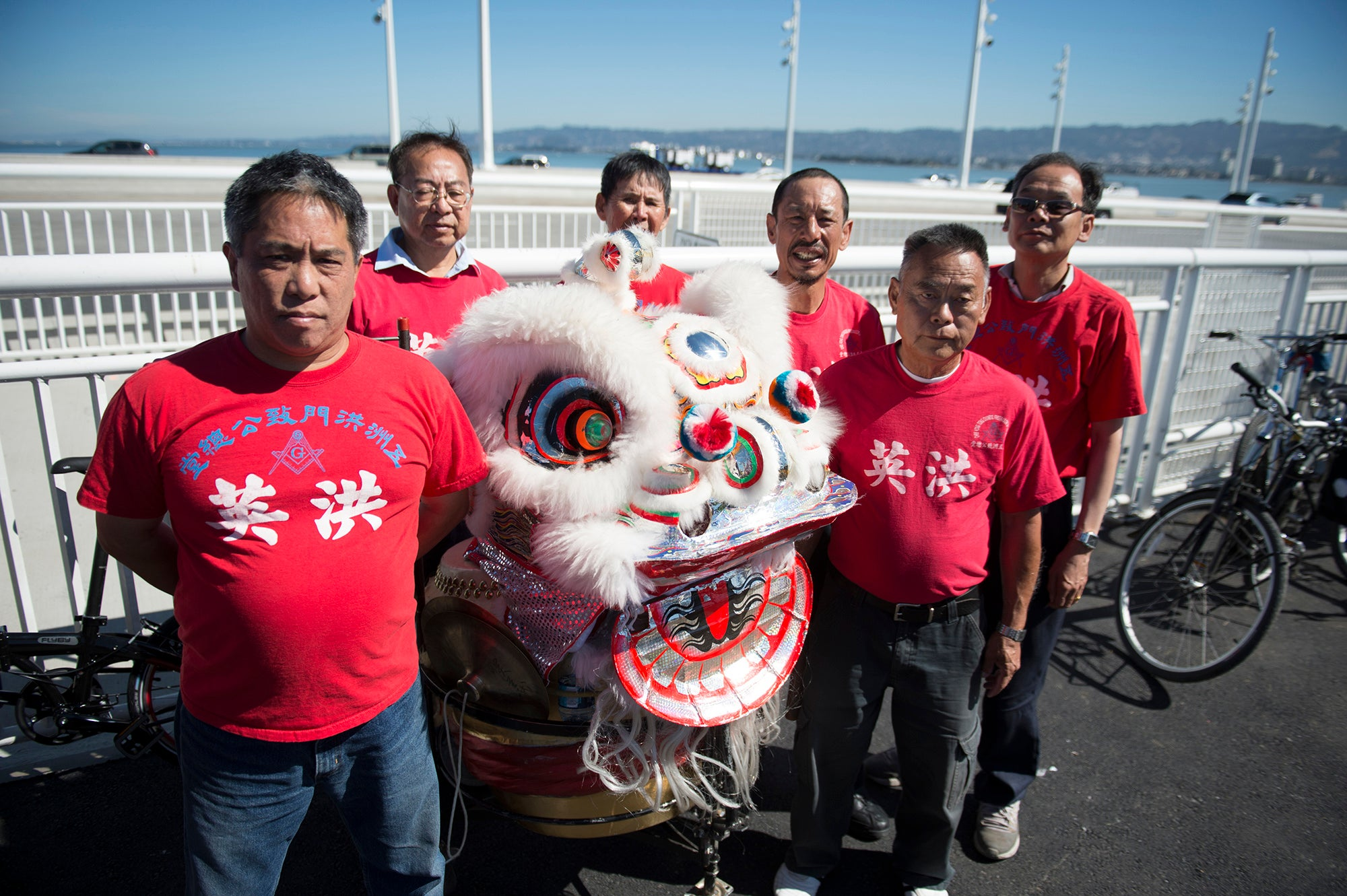 Traditional Lion dancers