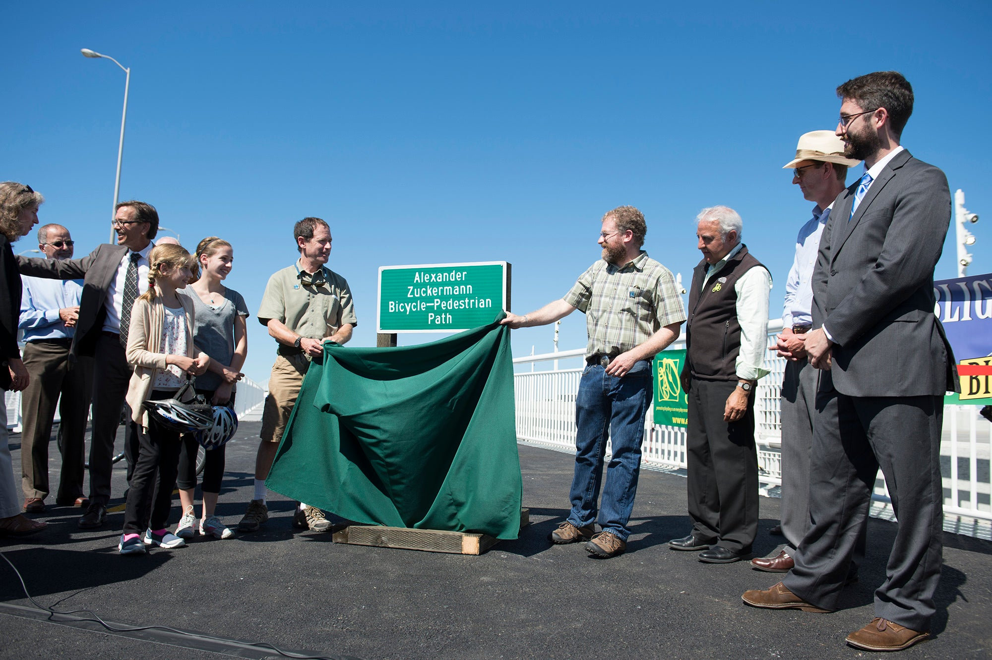 Bay Bridge Bike/Ped path sign unveiling