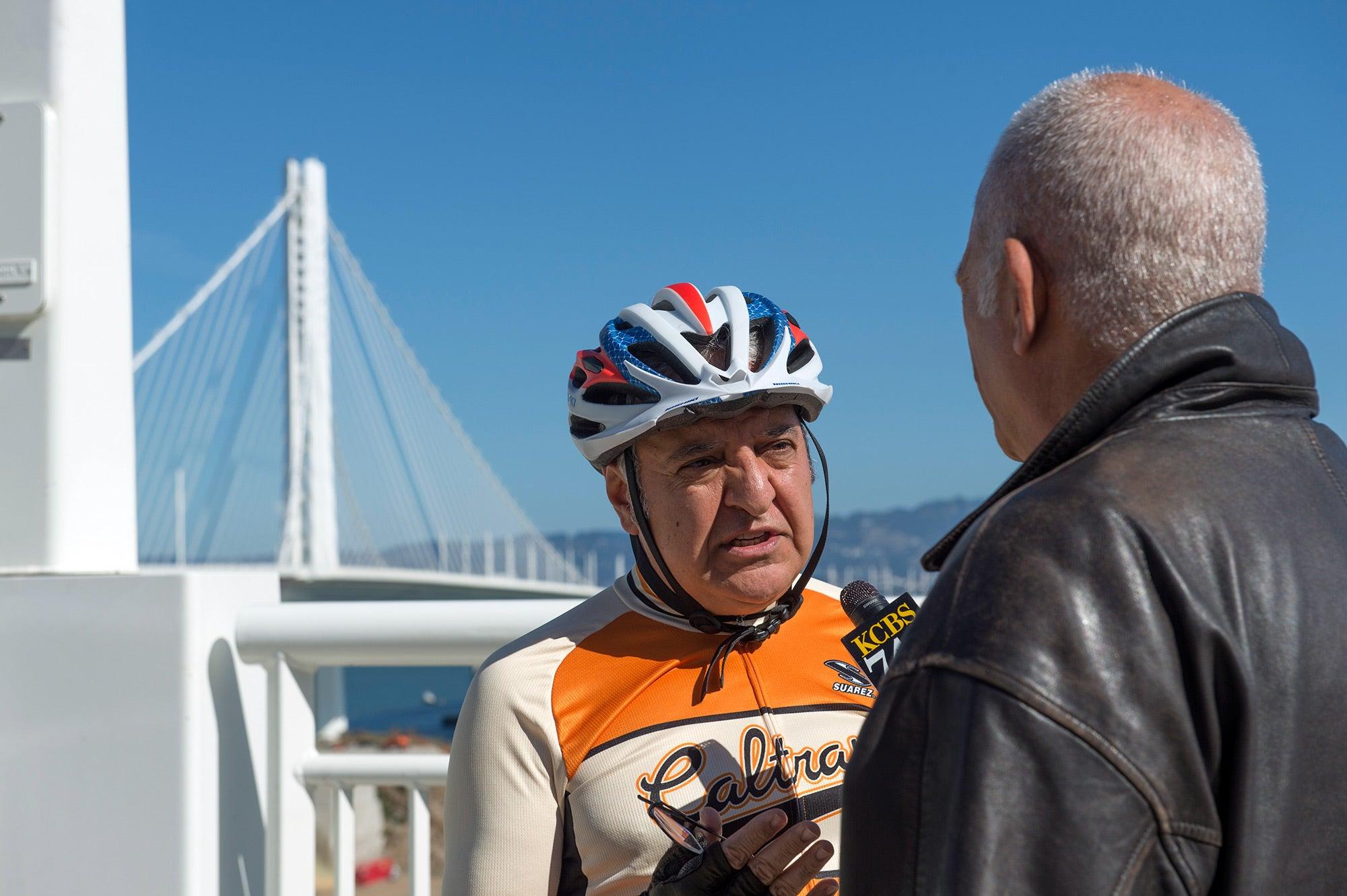 Caltrans District 4 Director Bijan Sartipi is interviewed.