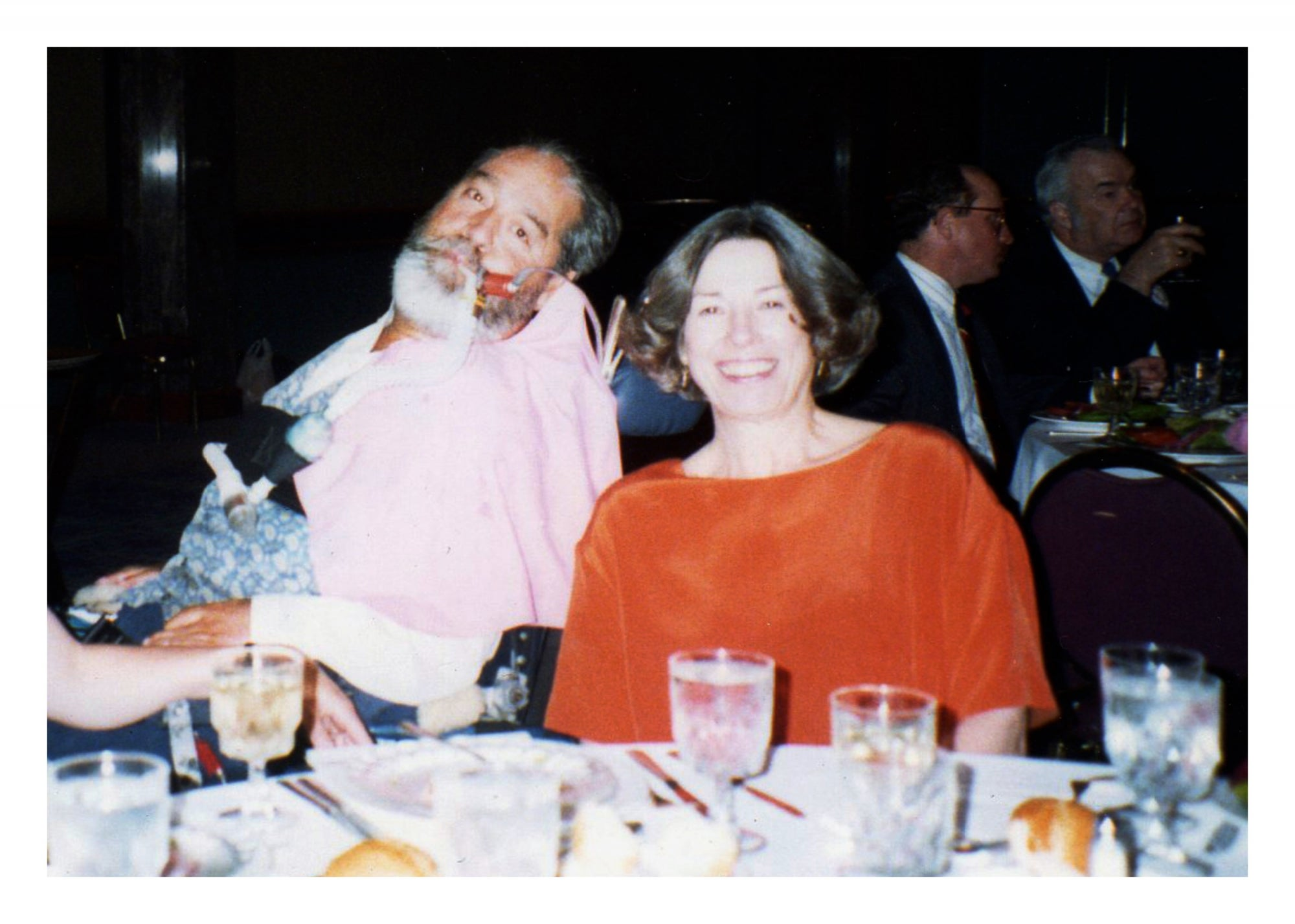 Ed and Joan at a fundraising dinner for WID