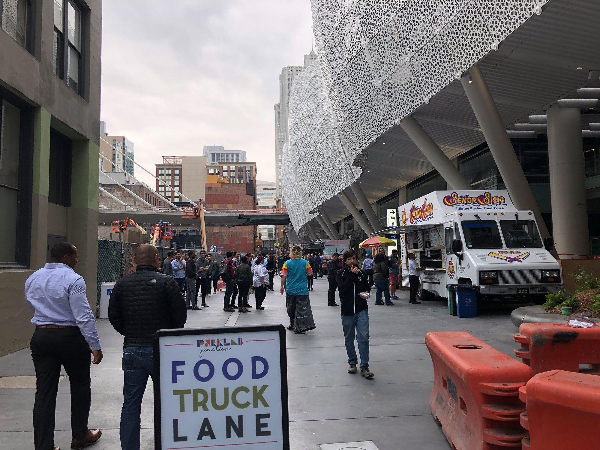 Salesforce Transit Center food truck lane