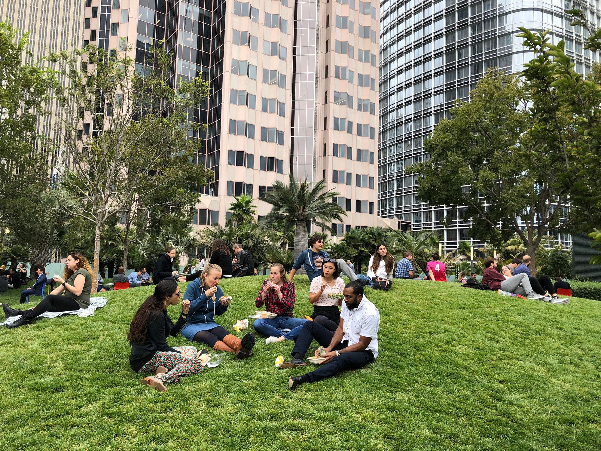Salesforce Transit Center rooftop garden