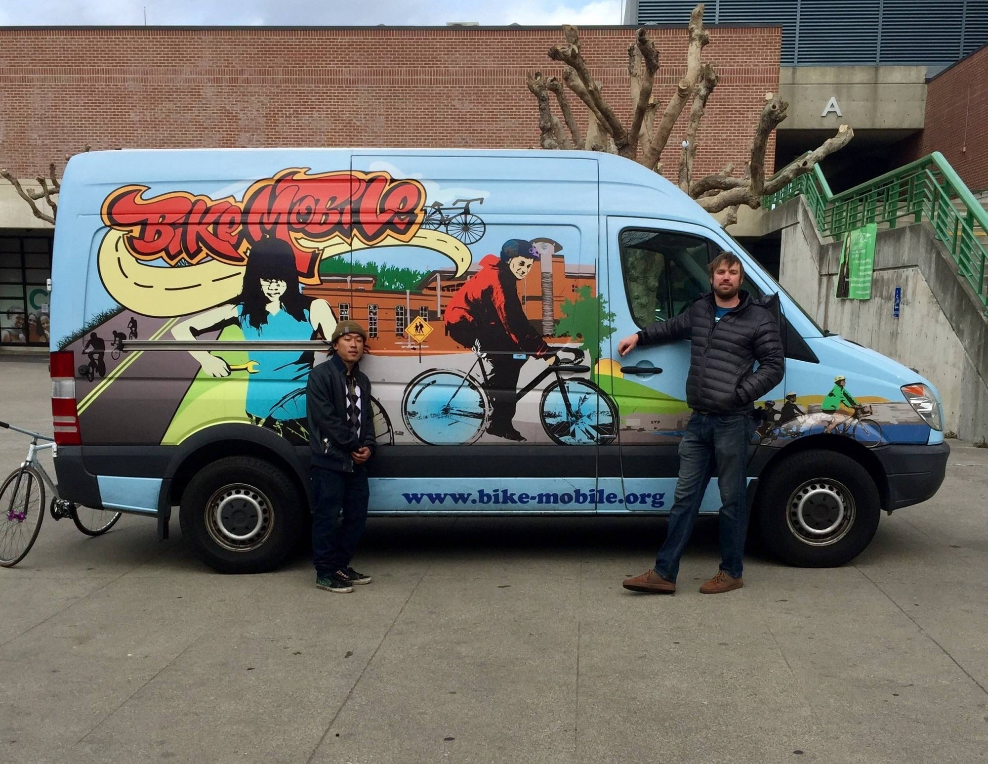 the Bikemobile at the 2018 YES Conference