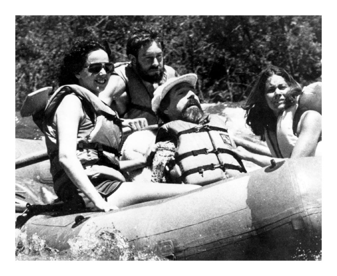 Because wild and scenic rivers in California were in danger of being tamed, Ed and Cathy joined a group to ride the rapids on the Stanislaus River