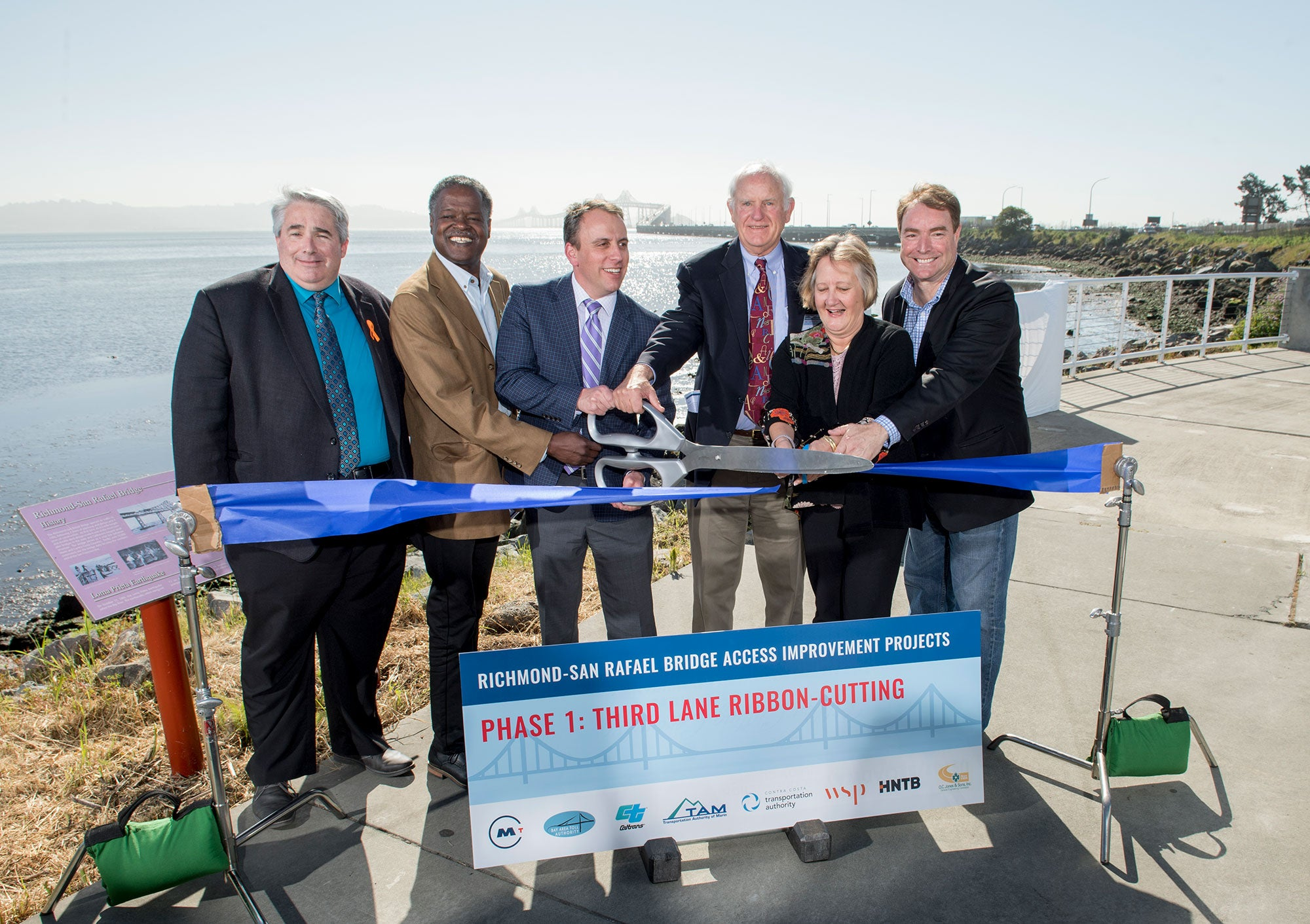 Ribbon Cutting: Third Eastbound Lane on Richmond-San Rafael Bridge