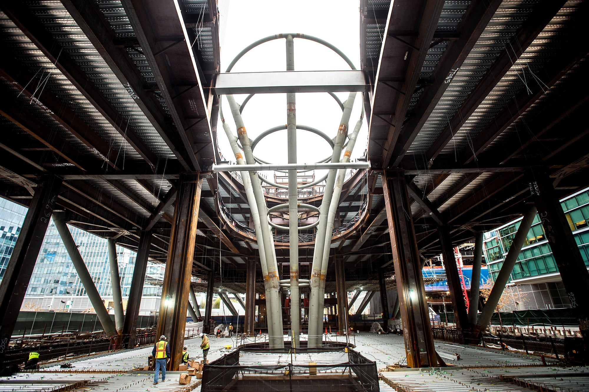 The Light Column, a central feature of the Transbay Terminal
