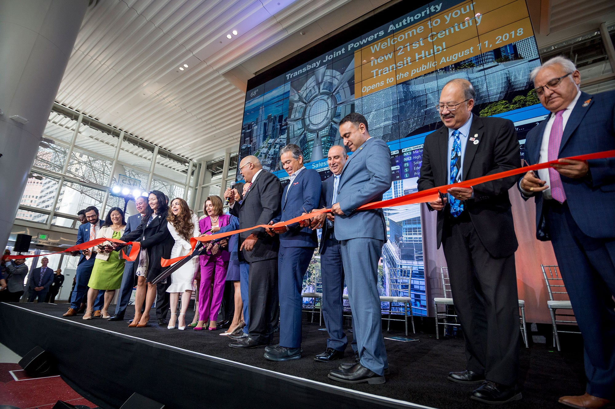 Salesforce Transit Center Ribbon Cutting
