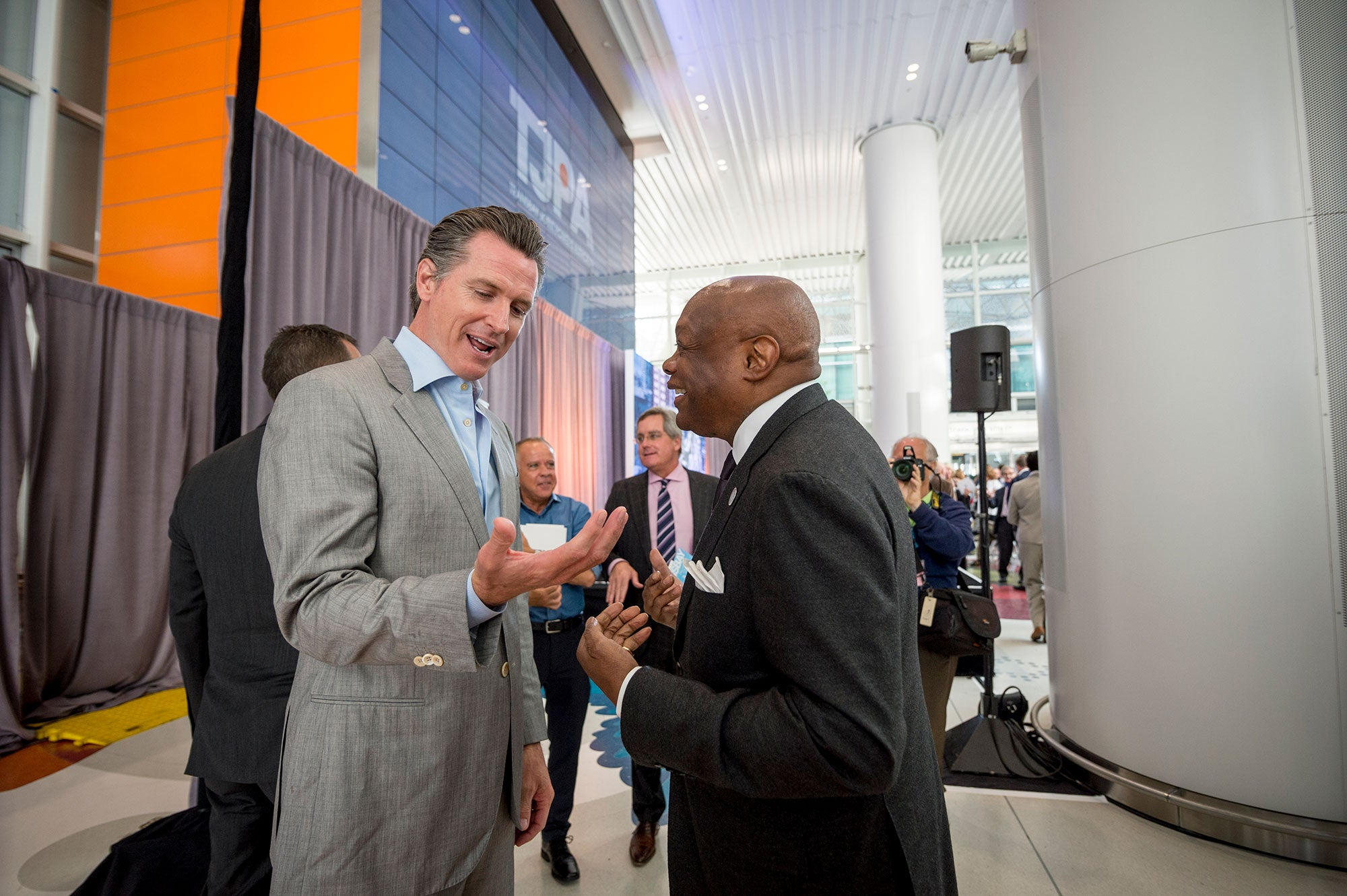 California Lieutenant Governor Gavin Newsom and former San Francisco Mayor Willie Brown