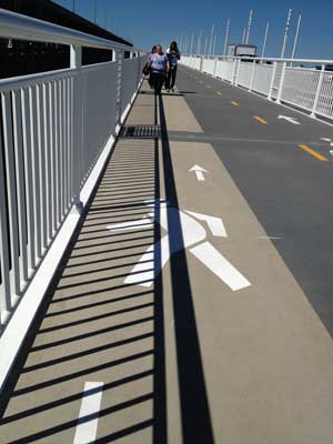 Bicycle/Pedestrian lane striping