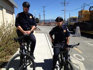 Bicycle police officers