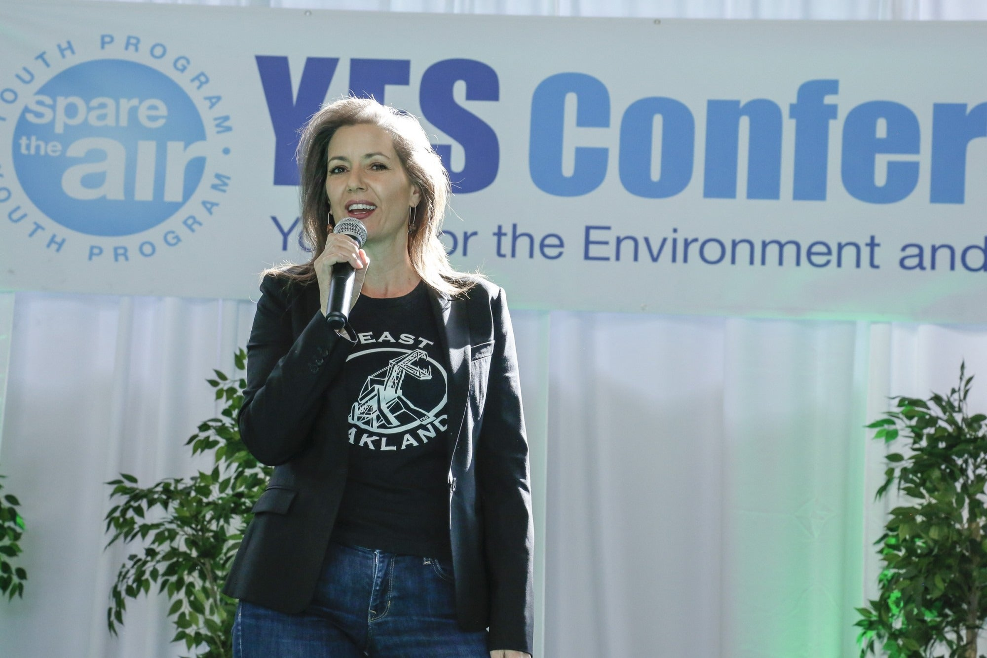 Libby Schaaf speaks at the 2018 YES Conference.