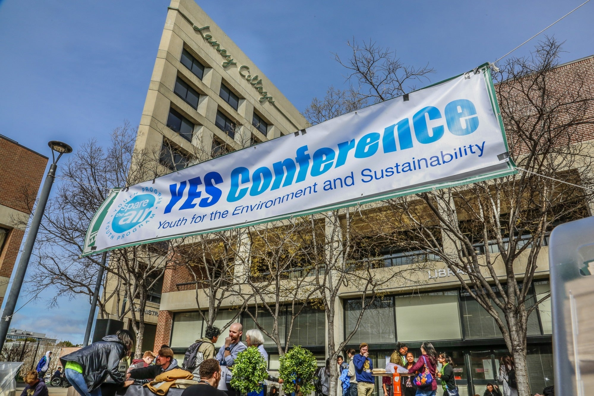 a banner at at the 2018 YES Conference