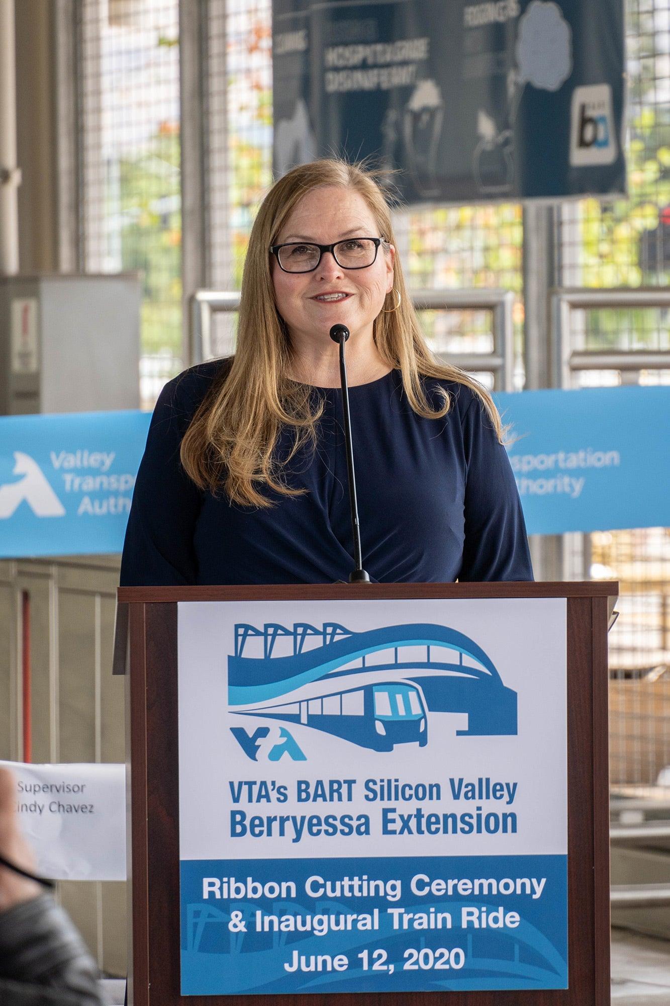 Cindy Chavez. Photo: Santa Clara Valley Transportation Authority