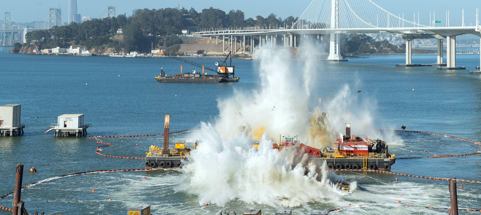 Pier implosion, September 2017