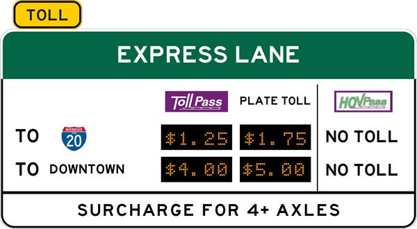 express lane alternative pricing signage