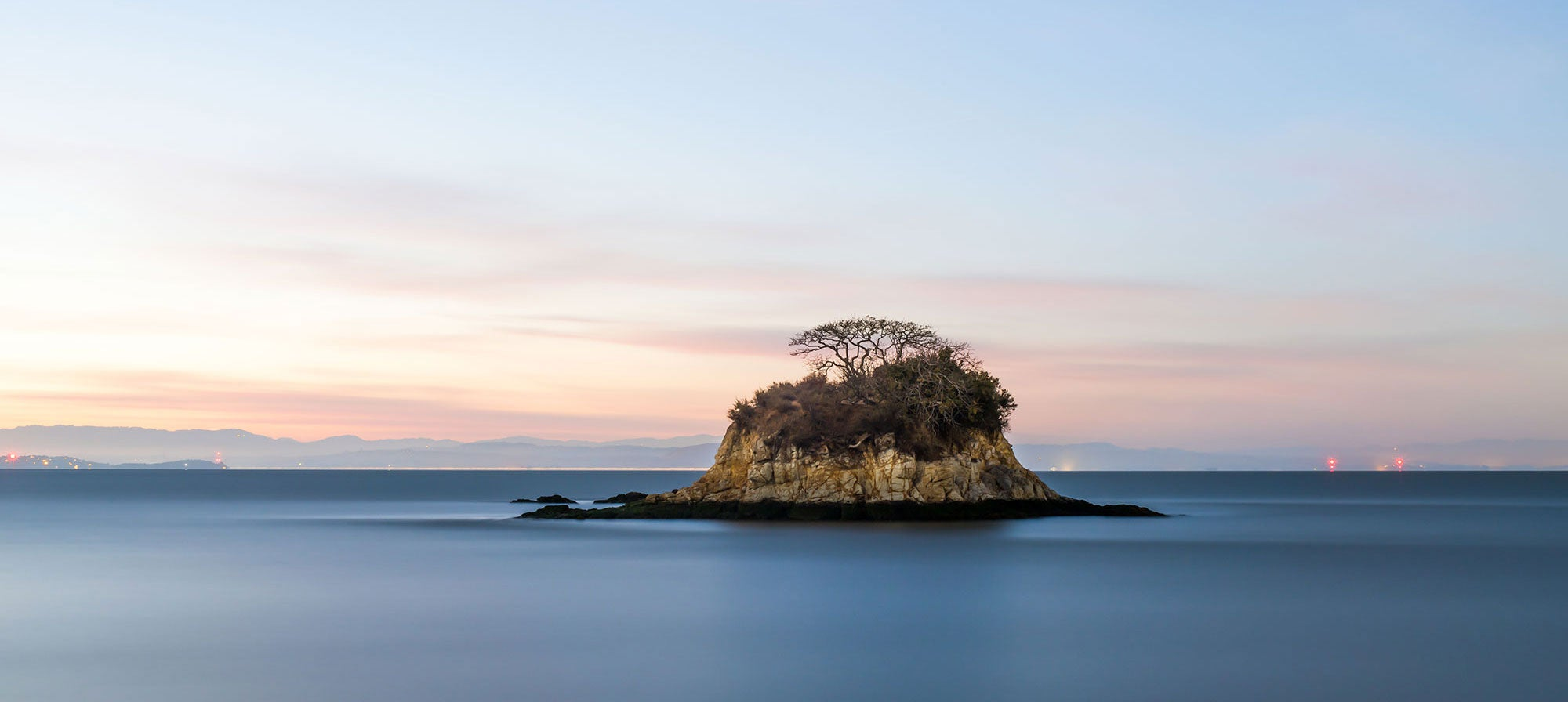 The show features mega-sized prints, including this one of Rat Rock Island.