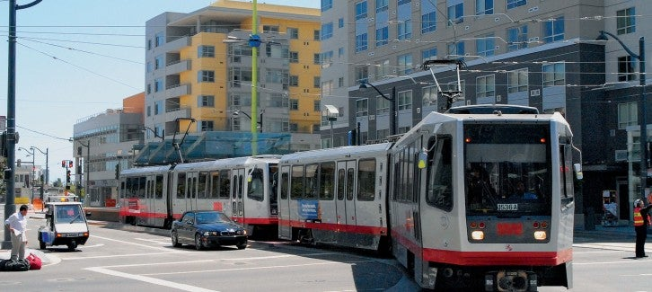 Muni train and affordable housing