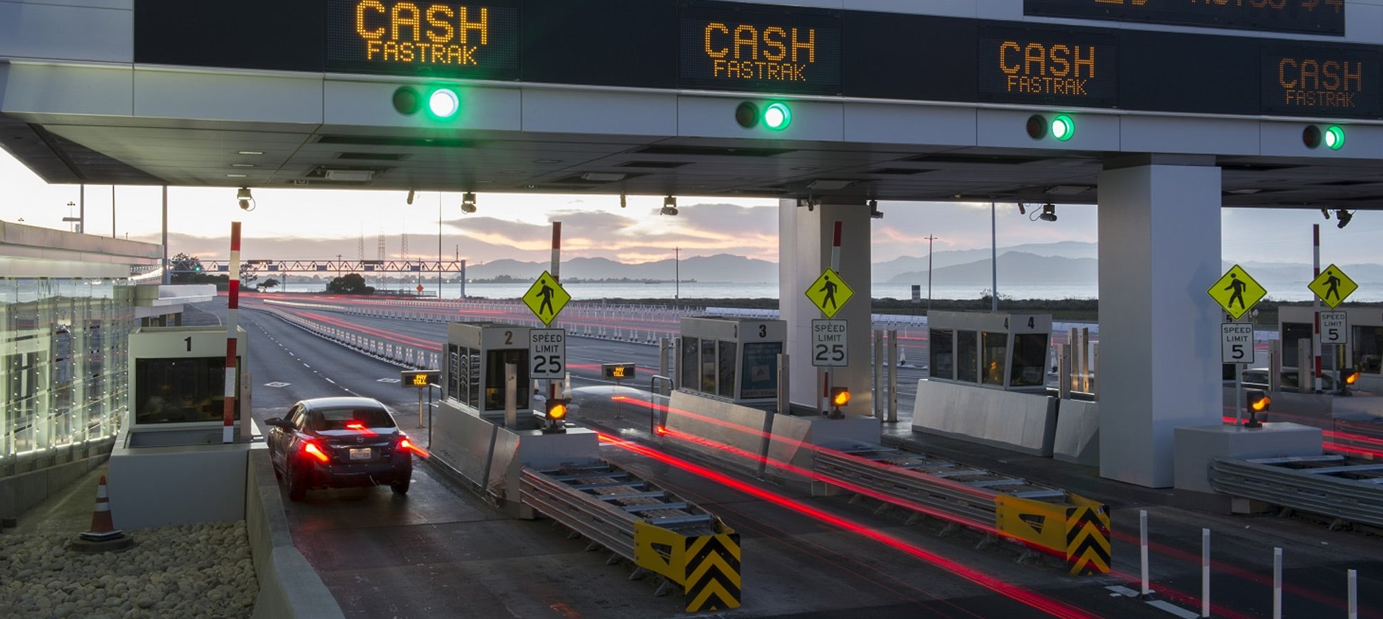 Toll plaza at Bay Bridge