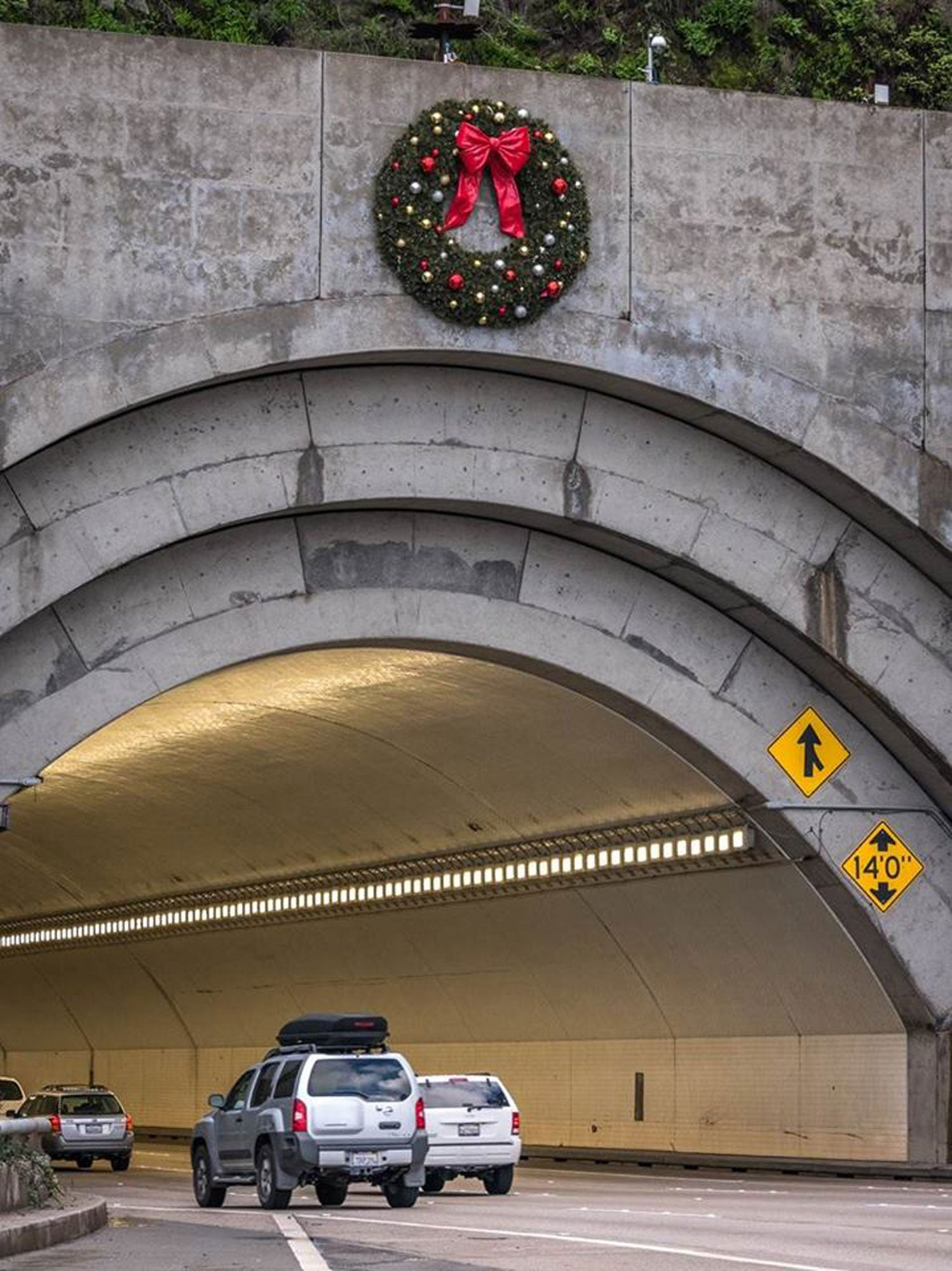 Yerba Buena Tunnel Christmas wreath
