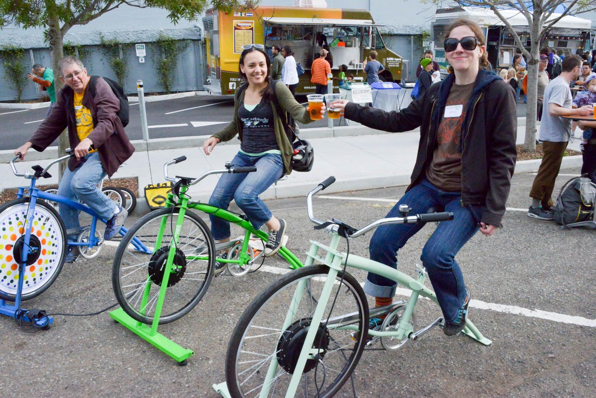 Generating power for the Berkeley Bike Happy Hour