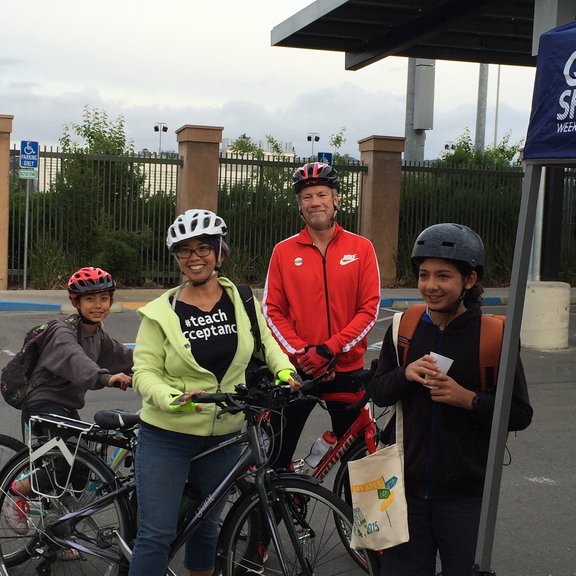 Dot Theodore - Castro Valley Unified School District School Board member and children with Billy Bradford